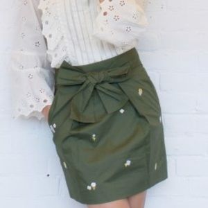 Jcrew embroidered skirt